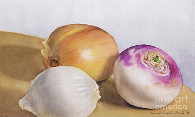 Painting - Onions by Pamela Schick