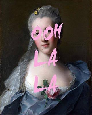Digital Art - Ooh La La Print  by Georgia Fowler