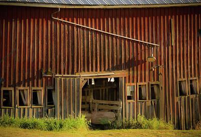 Photograph - Open Barn Door by Jean Noren