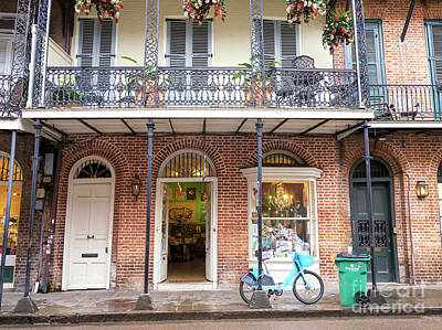 Photograph - Open Door In The French Quarter New Orleans by John Rizzuto