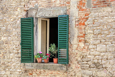 Photograph - Open Window Of Cortona by David Letts