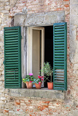 Photograph - Open Window Of Tuscany by David Letts