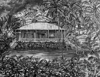 Opihikao Hale In Black And White Original