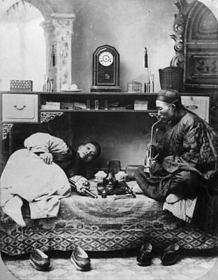 Opium Smokers Art Print by Hulton Archive