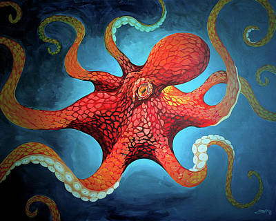 Painting - Optical Octopus by Joshua Hendry