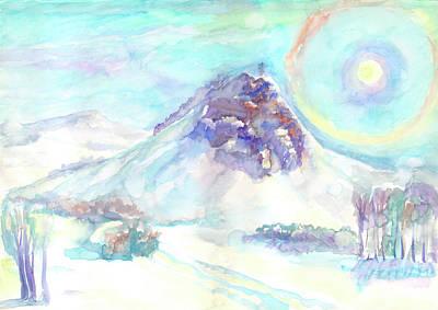 Painting - Optical Phenomenon - Halo by Irina Dobrotsvet