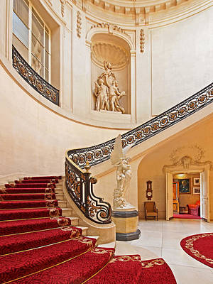 Photograph - Opulent Ornate Spiral Staircase by Gill Billington