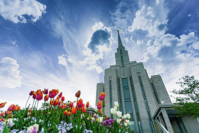Photograph - Oquirrh Mountain Temple by Dixon Pictures
