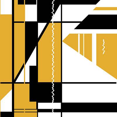 Digital Art - Orange Black 007 by Elastic Pixels