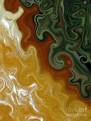 Digital Art - Orange Calcite And Dried Juniper Alchemy by Rachel Hannah