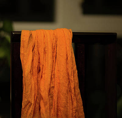 Photograph - Orange Cloth  by Juan Contreras