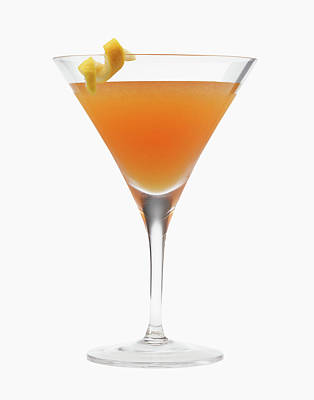 Photograph - Orange Cocktail Drink by Nicholas Eveleigh