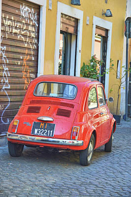 Photograph - Orange Fiat 500 by JAMART Photography