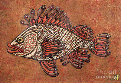 Painting - Orange Fish by Amy E Fraser