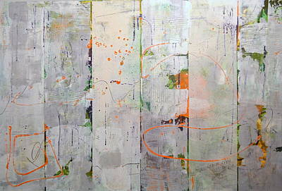 Photograph - Orange Lines With Grey by Michelle Calkins