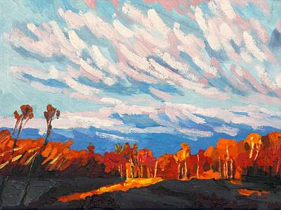 Painting - Orange Moment Of Singleton Sunset by Phil Chadwick
