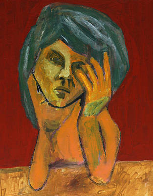 Painting - Orange Portrait by Artist Dot