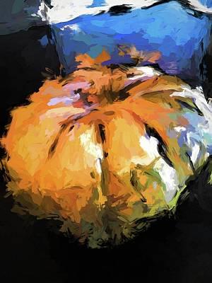 Painting - Orange Pumpkin by Jackie VanO