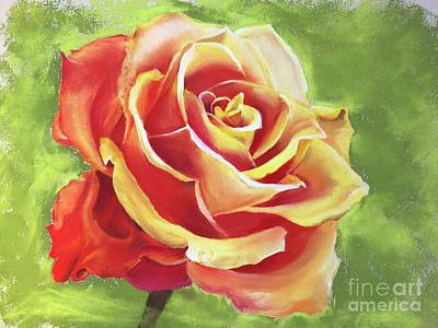 Painting - Orange Rose by Angela Armano