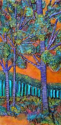 Mixed Media - Orange Sky #2 by Carla Carlson