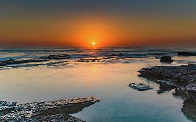 Photograph - Orange Sunrise At The Beach by Merrillie Redden