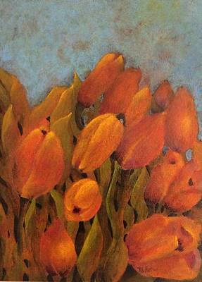 Painting - Orange Tulips by Milly Tseng