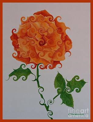Painting - Orange Whimsy by Jean Clarke