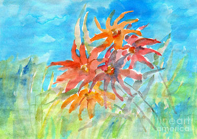 Painting - Orange Wildflower On A Meadow by Irina Dobrotsvet