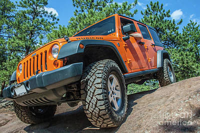 Photograph - Orange Wrangler Rubicon by Tony Baca