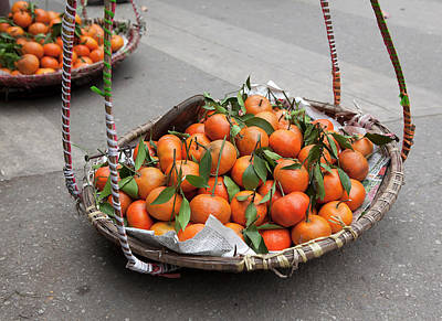 Food Photograph - Oranges For Sale In The Streets Of by Cormac Mccreesh