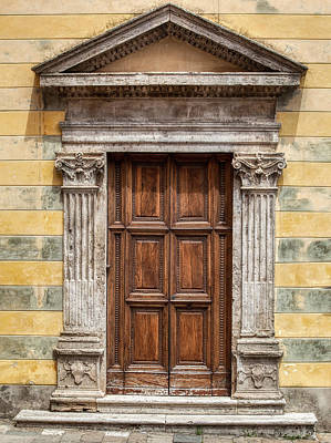 Photograph - Ornate Door Of Tuscany by David Letts