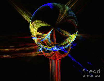 Digital Art - Orb by Elaine Manley