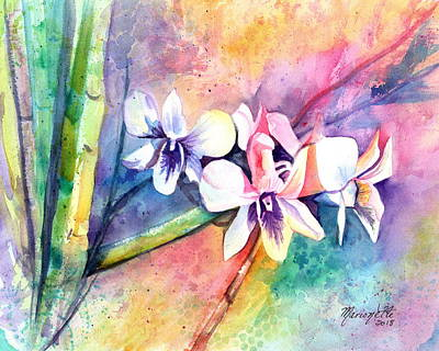 Painting - Orchid Fun by Marionette Taboniar