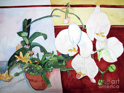 Painting - Orchid Looming by Sandy McIntire