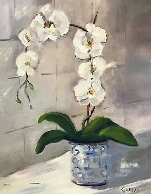 Karen Jordan Wall Art - Painting - Orchids by Karen Jordan