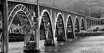 Photograph - Oregon Bridge In Black And White by American School