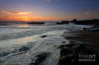 Photograph - Oregon Coast Sunset by Mike Dawson