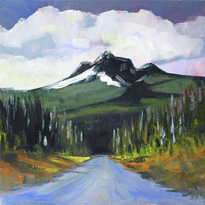 Painting - Oregon Road Trip by Nancy Merkle