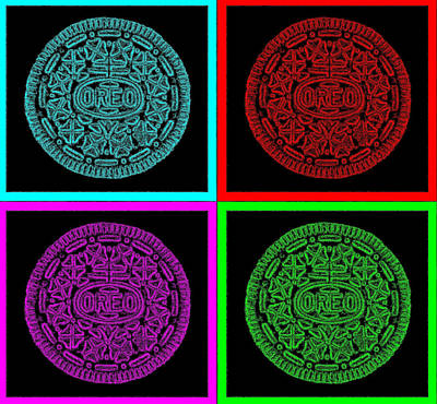 Photograph - Oreo Redux Quad Colors by Rob Hans
