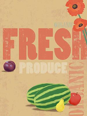 Digital Art - Organic Fresh Produce Poster by Don Bishop