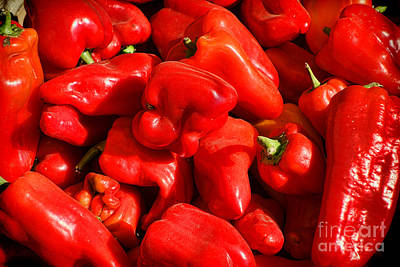 Photograph - Organic Red Peppers by Olivier Le Queinec