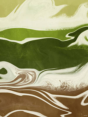 Mixed Media - Organic Wave 2- Art By Linda Woods by Linda Woods
