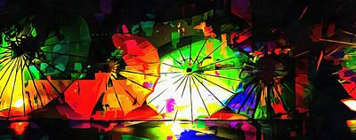 Photograph - Oriental Parasols Abstract by Dorothy Berry-Lound