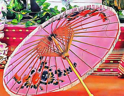 Photograph - Oriental Pink Parasol by Dorothy Berry-Lound