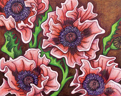 Painting - Oriental Poppies - Little Candy Floss by Amy E Fraser
