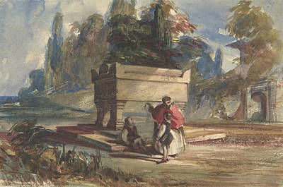Drawing - Oriental Scene by William James Muller