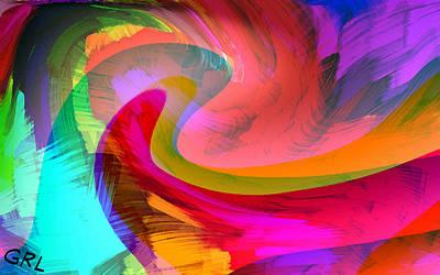 Painting - Original Fine Art Digital Abstract Warp10b by G Linsenmayer