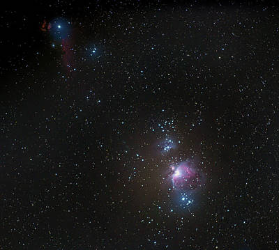 Photograph - Orion And The Flame Nebula by Mark Duehmig