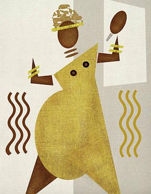 Orishas Wall Art - Digital Art - Orisha Oshun by Souvenirsycuentos Viola Loiva Ekong