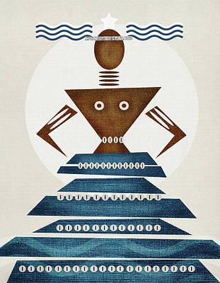 Orishas Wall Art - Digital Art - Orisha Yemanya by Souvenirsycuentos Viola Loiva Ekong